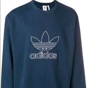 NEW Adidas outline crew large men's